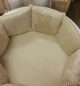 Кремовый Комплект в детскую кроватку 23 пр