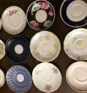 Блюдца  разныепирожковые тарелки , тарелочки KAHLA