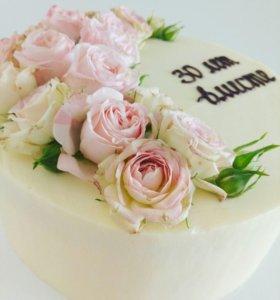 Торт на заказ без мастики, на свадьбу, детский