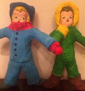 Распродажа!елочные игрушки, сделаны из ваты!