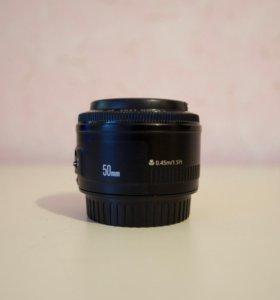 Объектив Canon EF 50mm 1:1.8 II
