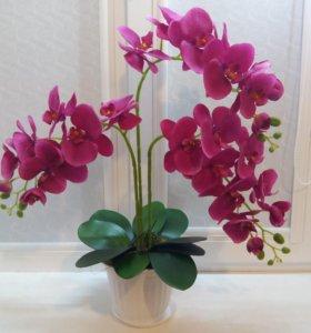 Орхидеи имитация.Топиарии. Искусственные цветы