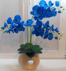 Орхидеи имитация. Искусственные цветы.Топиарии
