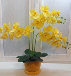 Орхидеи имитация.Искусственные цветы.Топиарии.