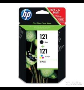 Комплект картриджей HP 121 Black/Tri-color CN637HE