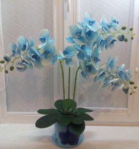 Орхидеи имитация.Искусственные цветы.Топиарии
