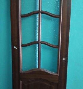 Дверь,коробка, наличники,доборные,петли,ручка