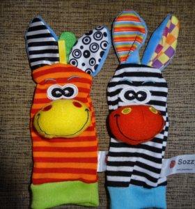 Носочки и браслетики с игрушками