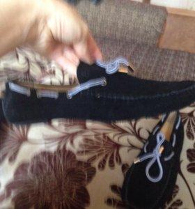 Мужские туфли/мокасины замшевые