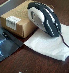 Проводная, оптическая игровая мышь+ коврик в дар