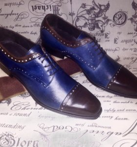 Итальянские кожаные туфли ручной работы