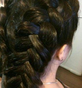 Плетение кос. локоны. прически