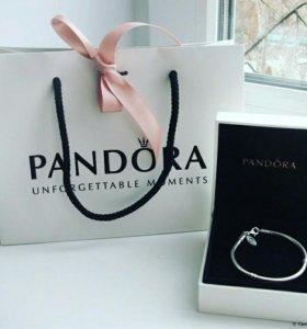 Серебряный браслет Pandora+подарок