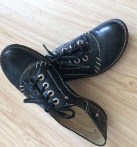 Туфли летние, кожаные