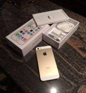 Новый,оригинал iphone 5s gold 32 gb