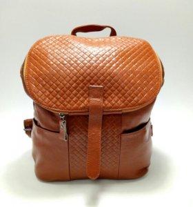 Рюкзак из кожи.