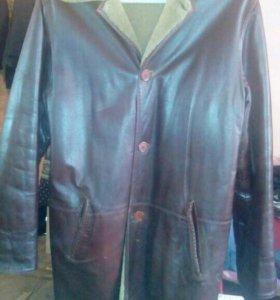 Куртка длинная кожаная