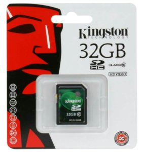 продам новую карту памяти kingston sdhc на 32 гб