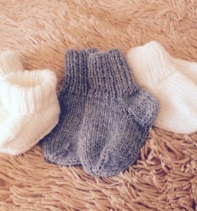 Пинетки, носочки ручной работы. Вязание.
