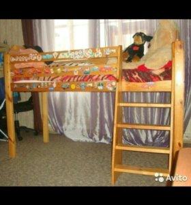 Деревянная подростковая кровать 185*75*85