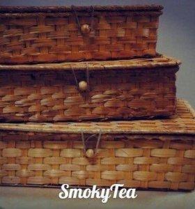 Плетёные бамбуковые корзины