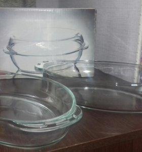 Стеклянная посуда (кастрюля) для запекания
