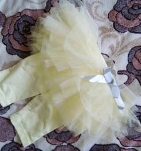 Лосины леггинсы штанишки с юбочкой