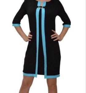 Новое трикотажное платье 52 размера.