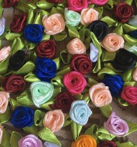 Розочки из атласных лент для декора и скрапбукинга