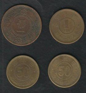Япония Монеты первой половины XX в.