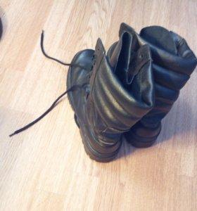 Берцы армейские кожаные