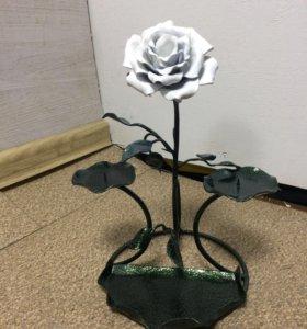 Кованые розы,подсвечники