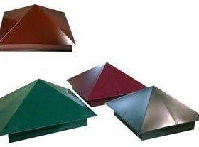Колпаки металлические на заборы 380*380