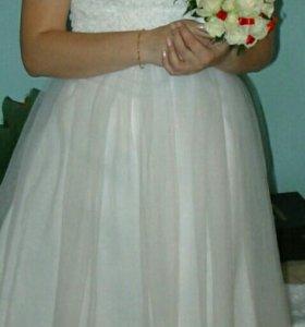 Свадебное платье+болеро+вуалетка
