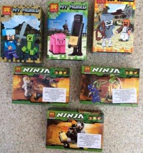 Наборы Лего Нинзяго и Майкрафт