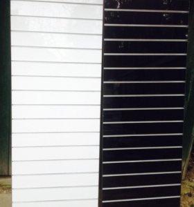 Глянцевые эконом панели с алюминиевыми вставками.