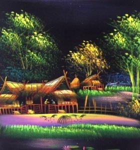 Картина на ткани из Тайланда