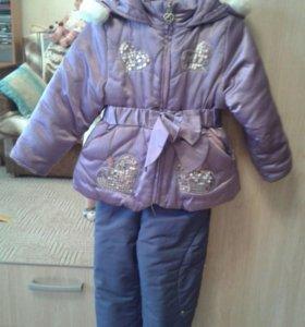 Зимний костюм раздельный 86 см