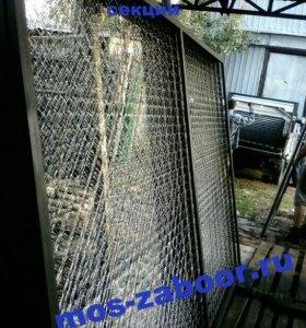Секции заборные в сетки рабица