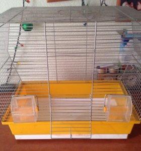 Клетка для попугая 42 высота, 45х28