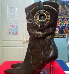 Ботинки, кожа, замша, 38 размер