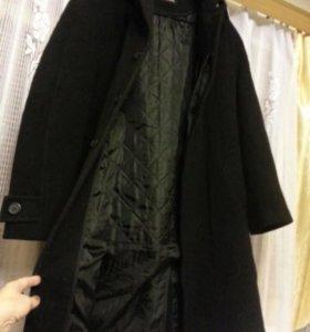 Пальто черное шерсть Iris Collection