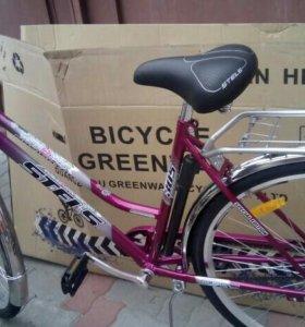 Велосипед стелс дорожный новый с карзиной