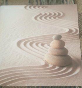 Картина Холст Канвас песок камни 30 на 30 см
