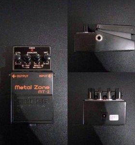 Гитарная педаль эффектов Boss MT-2 Metal Zone