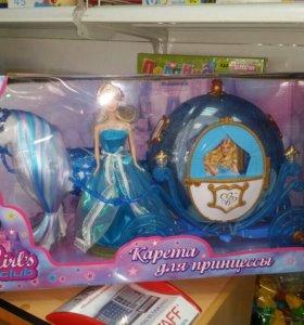 Карета для куклы новая