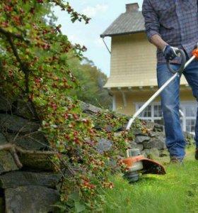 Покос травы. Вспашу огород мотоблоком.