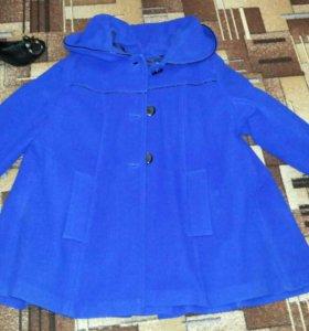 Пальто разлетайка. Синее. Р. 48-50