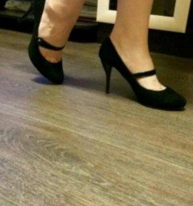 Туфли замшевые, 38