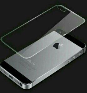 Стекло защитное iPhone 5s заднее